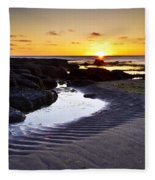 Sunset In Iceland Fleece Blanket