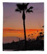 Sunset In Laguna Beach Fleece Blanket