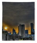 Sunset In Manhattan's Lower East Side Fleece Blanket