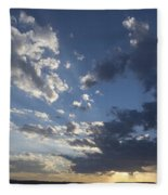 Sunset In New Mexico Fleece Blanket