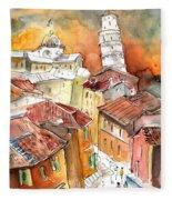 Sunset In Pisa Fleece Blanket