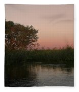 Sunset In Teh Pantenal Fleece Blanket