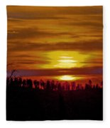 Sunset In The Black Hills 2 Fleece Blanket