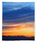 Sunset In The Black Mountains Fleece Blanket
