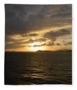 Sunset In The Caribbean Fleece Blanket