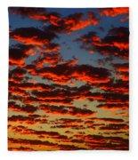 Sunset In The Clouds Fleece Blanket