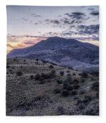 Sunset In The Davis Mountains Fleece Blanket