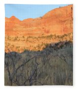 Sunset In The Desert Canyon 2 Fleece Blanket