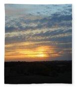 Sunset In The Distance Fleece Blanket