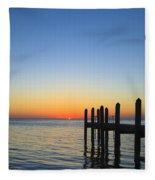 Sunset In The Keys Fleece Blanket