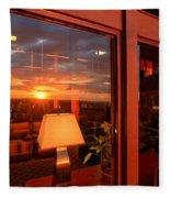Sunset In The Lobby Fleece Blanket