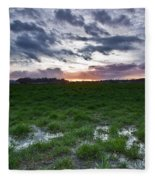 Sunset In The Swamp Fleece Blanket