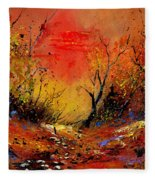 Sunset In The Wood Fleece Blanket