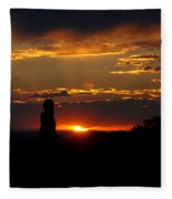 Sunset In Utah Fleece Blanket