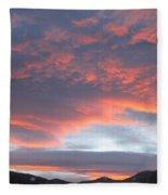 Sunset In Vail Colorado Fleece Blanket