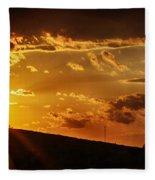 Sunset In Vernon County Fleece Blanket
