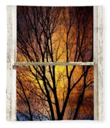 Sunset Into The Night Window View 3 Fleece Blanket