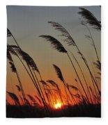 Sunset Island Beach State Park Nj Fleece Blanket