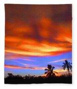 Sunset Key Largo Filtered Fleece Blanket