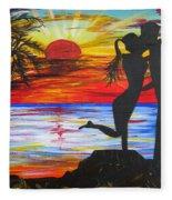 Sunset Kiss Fleece Blanket