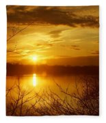 Sunset Lake Galena Fleece Blanket