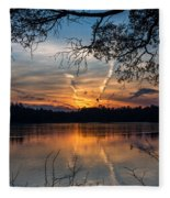 Sunset Lake Horicon Lakehurst New Jersey Fleece Blanket
