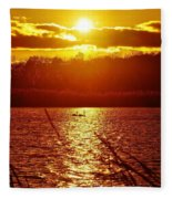 Sunset Love At Crosswinds Fleece Blanket