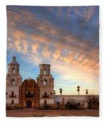 Sunset Majesty Mission San Xavier Del Bac Fleece Blanket