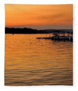 Sunset Marina Fleece Blanket