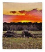 Sunset Meadow Fleece Blanket