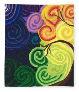 Sunset Moonrise Fleece Blanket
