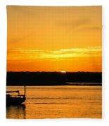 Sunset Morro Bay California Fleece Blanket