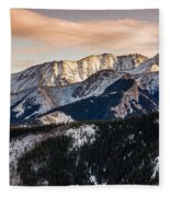 Sunset Mountains Fleece Blanket
