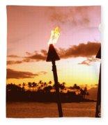 Sunset Napili Maui Hawaii Fleece Blanket