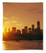Sunset - New York City Fleece Blanket