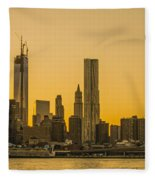 Sunset Ny Fleece Blanket