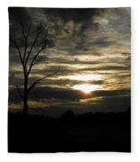 Sunset Of Life Fleece Blanket