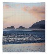 Sunset On Cannon Beach Fleece Blanket