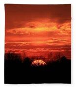 Sunset On Fire  Fleece Blanket