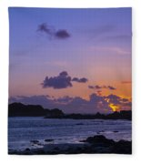 Sunset On Guernsey Fleece Blanket