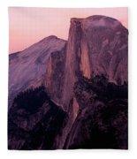 Sunset On Half Dome As Seen Fleece Blanket