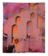 Sunset On Houses Fleece Blanket