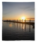 Sunset On Key Largo Fleece Blanket