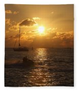 Sunset Over Key West Fleece Blanket