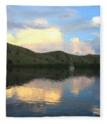 Sunset On Komodo Fleece Blanket