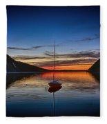 Sunset On Lake Willoughby Fleece Blanket
