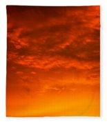 Orange Cloud Sunset Fleece Blanket