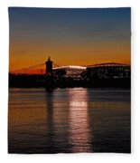 Sunset On Paul Brown Stadium Fleece Blanket