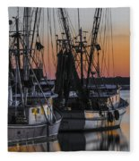 Shem Creek Sunset - Charleston Sc Fleece Blanket