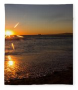 Sunset On Sunset Beach Fleece Blanket